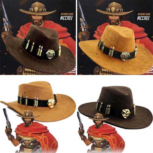 Game Overwatch OW McCree Cowboy Hat Headgear Cosplay Cap