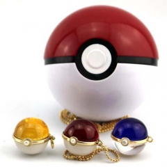 Hot Anime Pokemon Go Crystal Ball Necklace Fashion Cosplay Gift