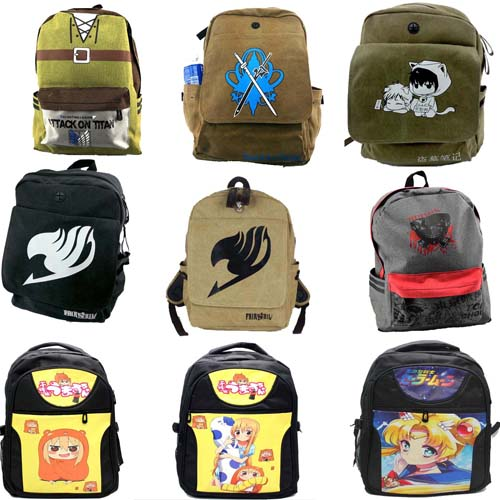 Anime One Piece Naruto Tokyo Ghoul Backpack Cosplay Backpack