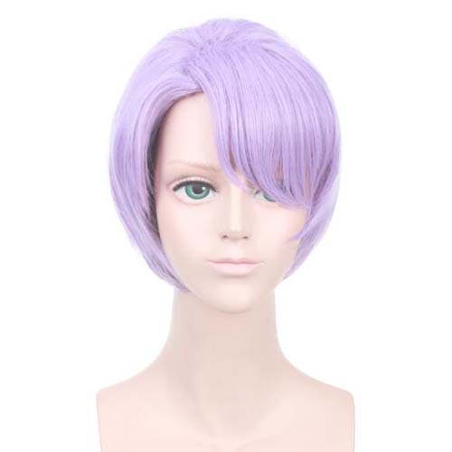 Game Arena Of Valor Cosplay Short Purple Wig Heat Resistant