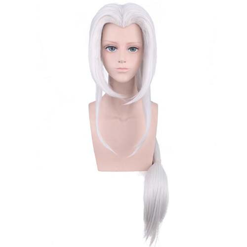 Game Arena Of Valor Cosplay Long Silvery Wig Heat Resistant