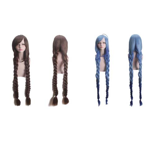 Game Arena Of Valor Cosplay Long Braid Wig Heat Resistant