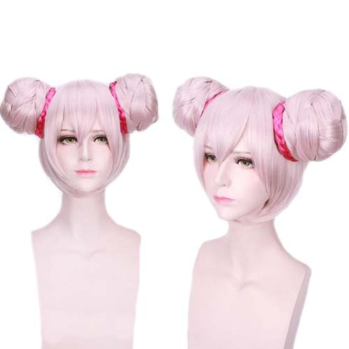 Game Arena Of Valor Cosplay Xiao Qiao Short Wig Double Buns