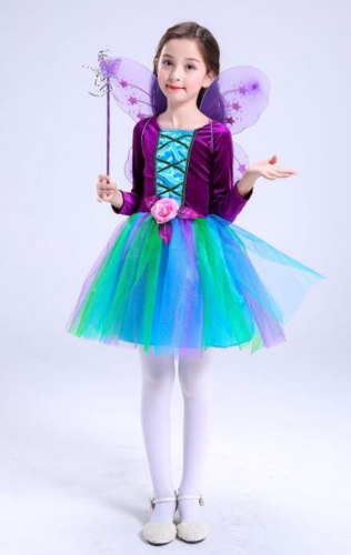 Children's Halloween Costume Butterfly Fairy Elfin Dress Performance Clothes For Dance Party