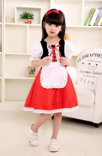 Little Red Riding Hood Skirt Halloween Cosplay Costume For Costume Ball Party