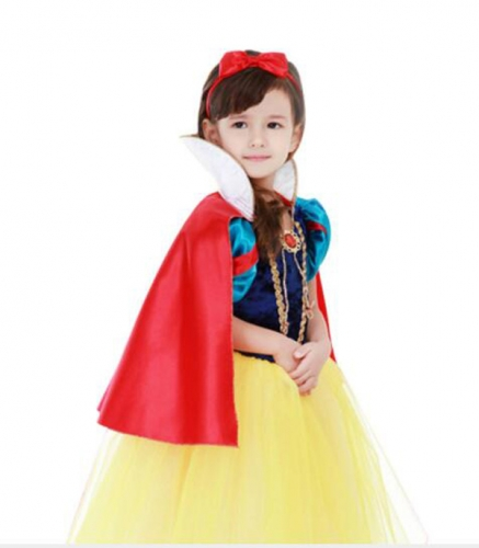 Children's Halloween Bubble Skirt Costume Snow White  Dress  Performance Clothes For Dance Party Costume Ball