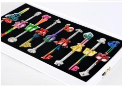 Anime Kingdom Hearts Key Jewelry Set Cartoon  Necklaces Set Keychains Set Wholesale Price Factory Alloy Anime Set