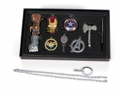 Anime The Avengers 4 Cosplay Jewelry Set Cartoon  Necklaces Set Keychains Set Wholesale Price Factory Alloy Anime Set