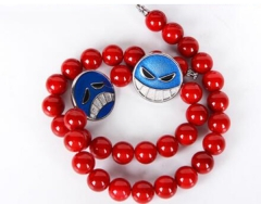 ONE PIECE Necklaces  Athy Pendant Alloy Red Beaded Necklaces Cosplay Jewelry