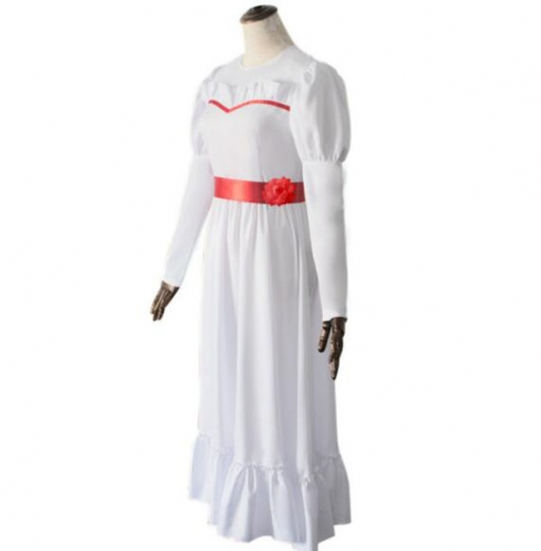 Annabelle Role Play Costume Horror Scary Party White Dress For Children Women
