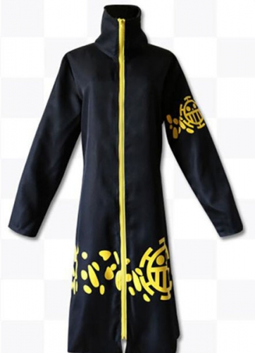 Anime ONE Piece Cosplay 2nd Trafalgar Law Cloak Jacket Costume