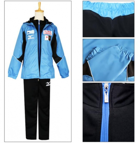 Yuri!!! on Ice Plisetsky Cool High School Uniform FullSet Sportswear Cosplay Costume