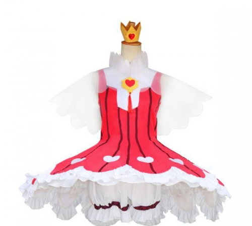 Cardcaptor Sakura Clear Card Arc Cosplay Costume Red Dress Battle Suit For Halloween