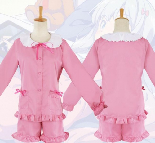 Anime Pink Tie Pajamas Sleepwear Comfy Night Suits
