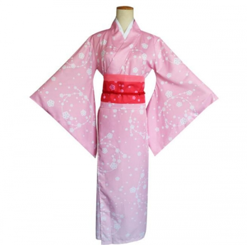Anime Japanese Pink Kimono Anime Cosplay Costume Lolita Dress For Halloween