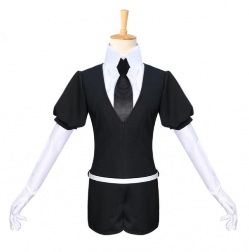 Anime The Kingdom of Gem Black Jumpsuit Cosplay Costume School Uniform For Women