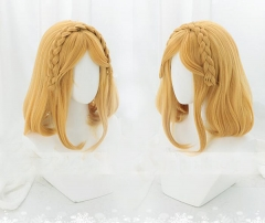 The Legend of Zelda Wig Gold Short Natural Wavy Hair Cosplay Wig  Halloween Cosplay Party Headwear Accessory