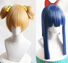 POP Cosplay Wig Pipi Cosplay Wig Gold Navy Blue Anime Cosplay Wig For Halloween