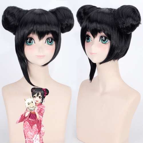 Love Live! Nico Two Updo Wig Cosplay Wig