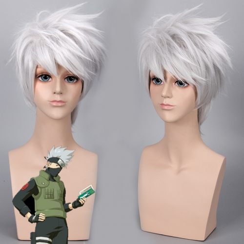 Anime Naruto Wig  Kakashi Cosplay Wigs for the Halloween Party