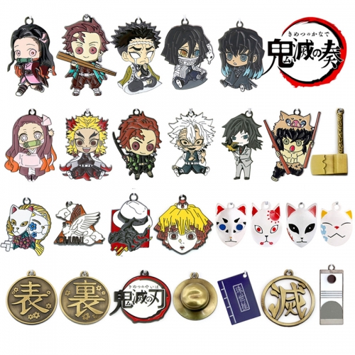 Demon Slayer Kamado Tanjirou Kamado Nezuko Kimetsu no Yaiba Key Chains Rings for Teens Women Mans