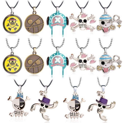Anime One Piece Monkey D Luffy Keychain Chopper Zorro Pendant Keyring