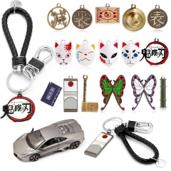Demon Slayer Kimetsu no Yaiba Tokitou Muichirou Sword Weapon Metal Model Action Figure Arts Toys Keychain Gift