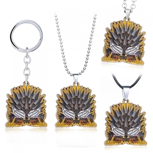 MH World MHW Ruiner Nergigante Icon Necklace Game Collection Backpack Pendant Keychain