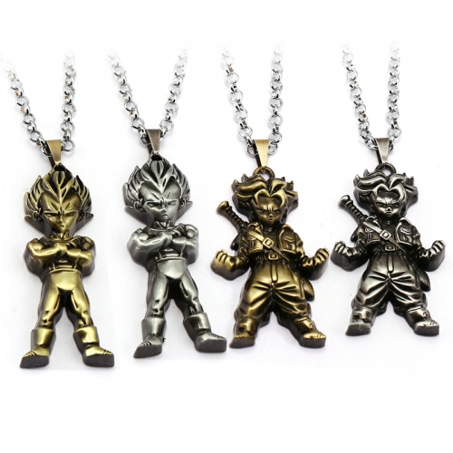 Anime Dragon Ball Necklace Saiyan Pendant Son Goku Pendant Charm Chain Anime Jewelry