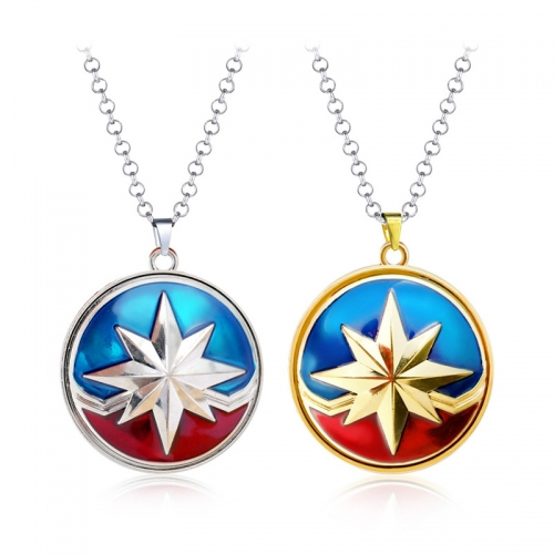 Avengers Necklace  Map Leaf Pendant Charm Necklace Anime Accessories