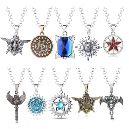 Anime Black Butler sebastian Alloy Pendant Chain Necklace