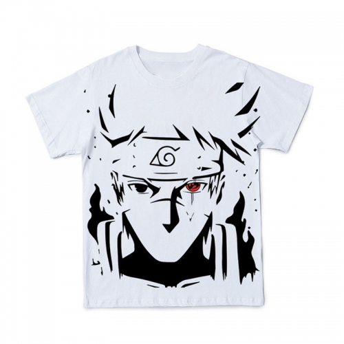 Children's Unisex Novelty T-Shirt 3D Printed Anime Naruto Round Neck Short Sleeve