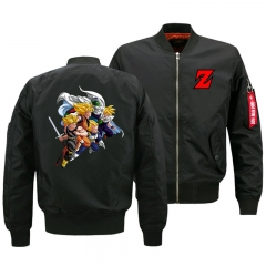 Dragon Ball Z Goku Anime Jacket Fleece Bomber Jacket Warm Outdoor Windbreaker For Men