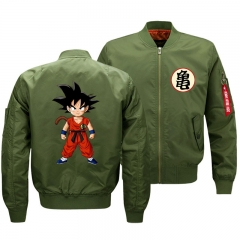 Anime Cosplay Costume Dragonball Jacket Fleece Bomber Jacket Warm Outdoor Windbreaker