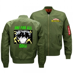 My Hero Academia Fleece Anime Cosplay Winter Hoodie Unisex Casual Long Sleeve Fleece Warm Windbreaker Coat